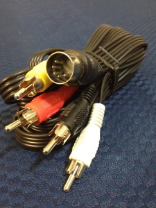 Universal 5 pin Din plug to 4 x RCA Lead. 3 meters long. Great for a B&o Beosound 9000 on any mounted position. Floor, table or great for floor stand as used in the Beosound 9000.